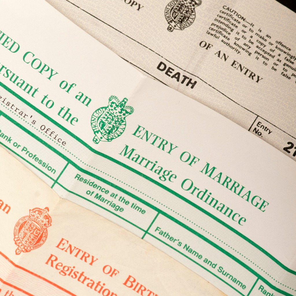 Marriage Records: England Birth & Baptism Records
