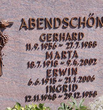 Jakob Abendschön Family from Schwaigern, Württemberg